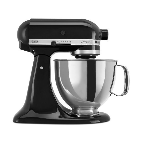 KitchenAid KSM150PSOB 5-Qt. Artisan Series with Pouring Shield - Onyx Black