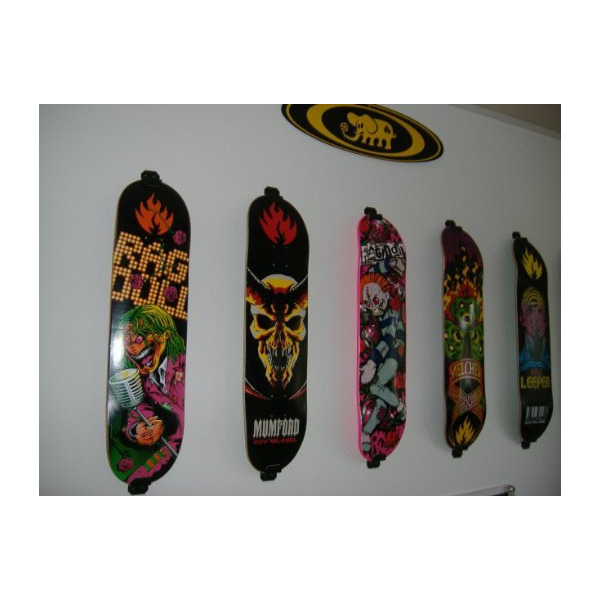 Skateboard Wall Mount, Display Rack Hanger (Burton Black)