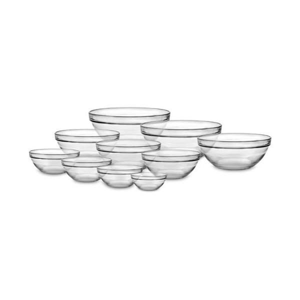 Duralex Lys Nesting Glass Bowl Set