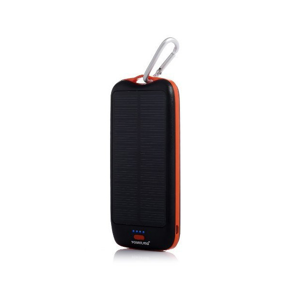 Poweradd™ Apollo2 Solar Panel Charger 10000mAh Dual-Port Portable Charger Backup Power Pack for iPhone 6 Plus 5S 5C 5 4S 4, Other iPads, iPods(Apple Adapters not Included), Samsung Galaxy S5 S4 S3 S2, Note 4, Note 3, Most Kinds of Android Smart Phones and Tablets, Gopro Camera and More Other Devices - Black