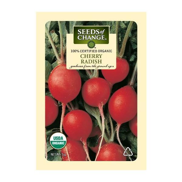 Seeds of Change Certified Organic Radish, Cherry - 3 grams, 250 Seeds Pack